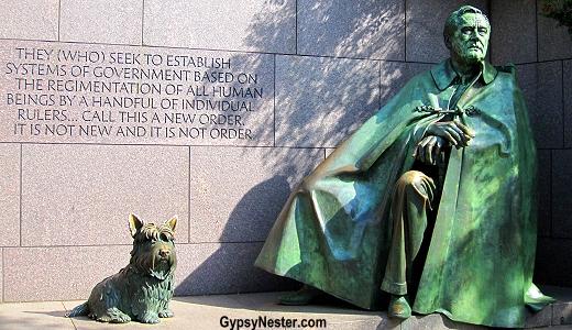 The FDR memorial in Washington, DC