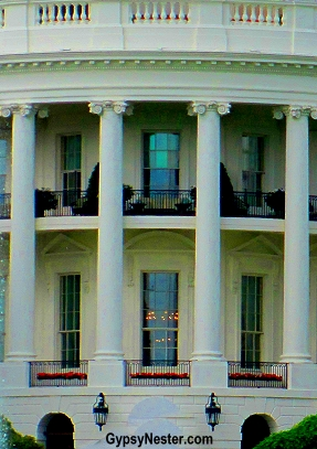 Close up on the White House in Washington DC