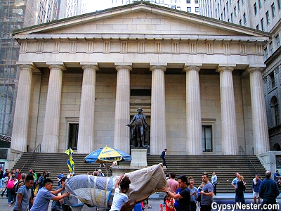 Federal Hall on Manhattan in NYC, New York