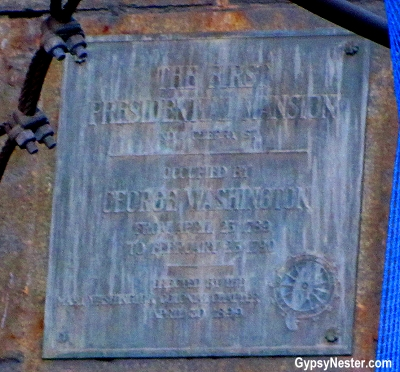 George Washington lived here: The first executive mansion was at what is now the base of the Brooklyn Bridge