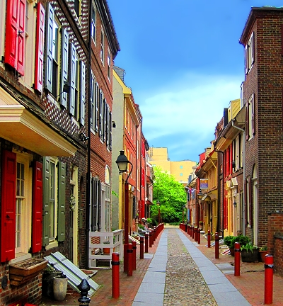 Elfreth's Alley, America's oldest residental neighborhood