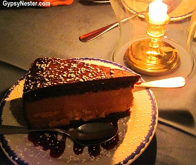 Martha Washington's Chocolate Mousse at City Tavern in Philadelphia