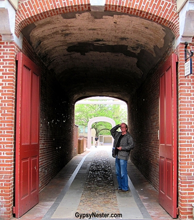 The tunnel to Ben Franklin's house in Philadelphia