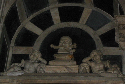 An odd little alcove in Cathedral San Lorenzo, Genoa Italy