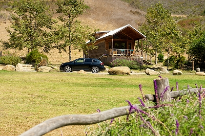 A glamping cabin at El Capitan Canyon in Santa Barbara, California