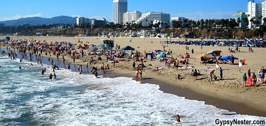Santa Monica Beach from the pier