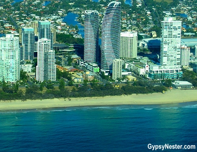 Peppers Broadbeach from above in Gold Coast, Queensland, Australia