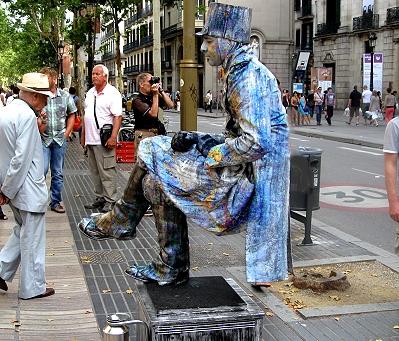 Human Statue, La Ramla, Barcelona