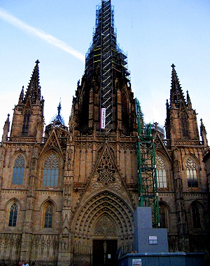 Catedral de la Santa Creu i Santa Eulàlia, or Cathedral of the Holy Cross and Saint Eulalia