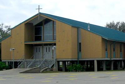 Church on stilts, Grand Isle Louisiana