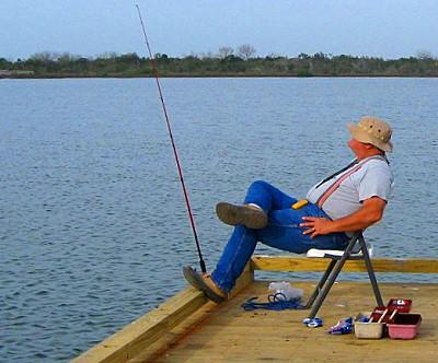 Fisherman in Grand Isle Louisiana