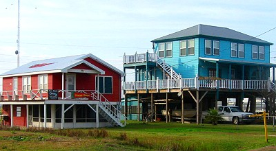 A whole town on stilts, Grand Isle, Louisiana