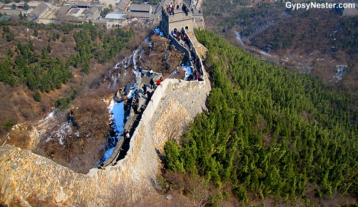 High up on the Great Wall in Beijing
