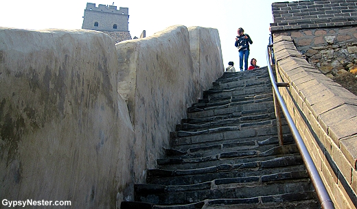 The stairs of the Great Wall of China are a bit uneven