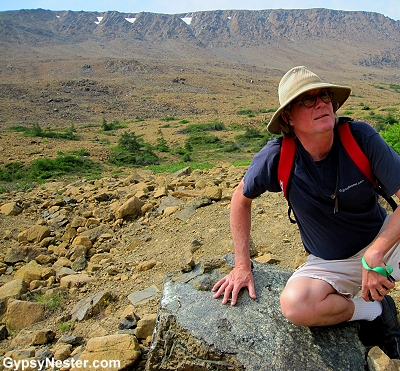 David sits at the mantle of the earth in Gros Morne National Park in Newfoundland