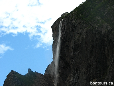 Pissing Mare Falls on Western Brook Pond, Gros Morne National Park, Newfoundland, by Bon Tours