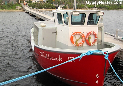 The boat that Bon Tours uses on The Western Brook tour in Gros Morne, Newfoundland