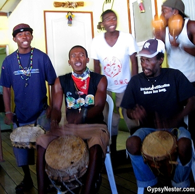 A traditional Garifuna band in Livingston, Guatemala