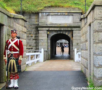 Halifax's Fort King George guarded by re-enactors of the famous 78th Highlanders Regiment on Citadel Hill