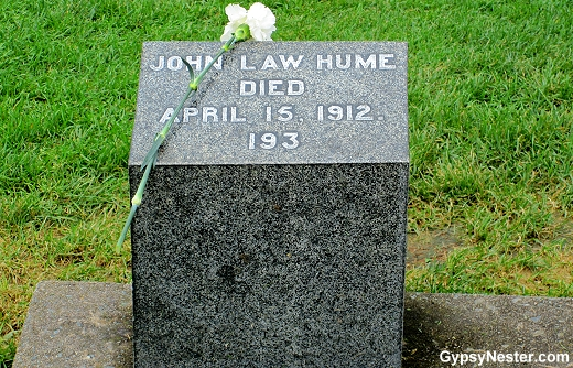 John Law Hume, violinist in the orchestra that played as Titanic sank