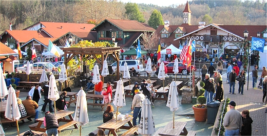 King Ludwick's Biergarten in Helen, Georgia