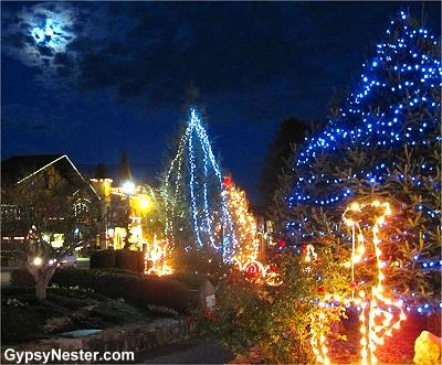 Christmas decorations is Helen, Georgia