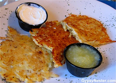 Potato pancakes at Old Heidelburg in Helen, Georgia