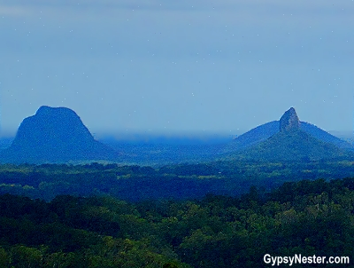 The Glasshouse Mountains in the Hinterlands of Queensland, Australia