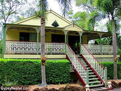 The Queenslander home that is headquarters of Glasshouse Gourmet Snails in the Hinterlands of Australia