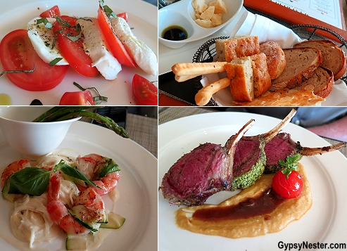 Dinner at Viking Ocean Cruises's upscale Italian restaurant