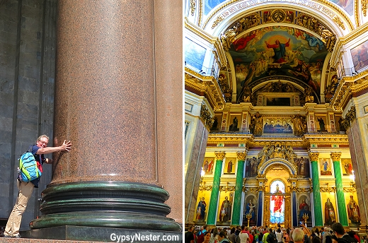 St. Isaac's Cathedral in St. Petersburg, Russia is massive!