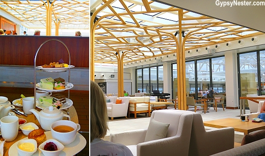Tea Time in Viking Star's Wintergarden