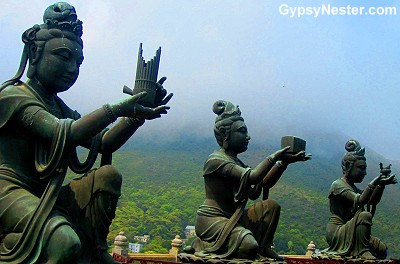 Bronze Devas at Tian Tan Buddha, Hong Kong