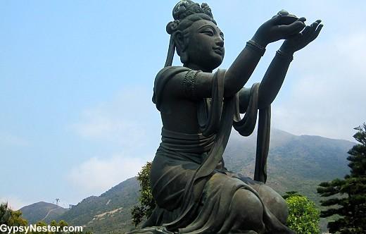 One of six Devas at the Tian Tan Buddha in Hong Kong