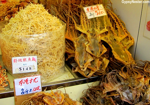Offerings on Dried Seafood Street in Hong Kong, China