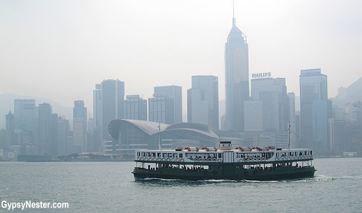 The Star Ferry in Victoria Harbor, Hong Kong, China