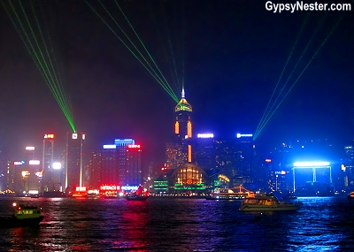 Downtown Hong Kong lights up during A Symphony of Lights every night!