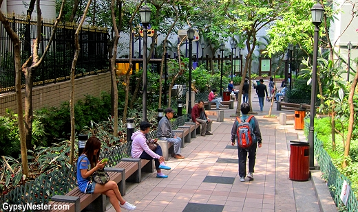 The Queen Street Rest Garden in Hong Kong