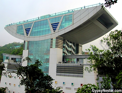 The Peak Tower and Peak Galleria in Hong Kong