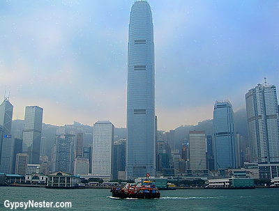 On the Star Ferry in Victoria Harbor, Hong Kong, China