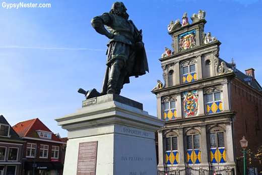 Statue of Jan Pietersz Coen in Hoorne, Holland, The Netherlands