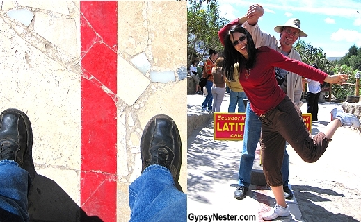 the goofy standing-in-both-hemispheres-at-once photos. At the Equator in Ecuador!