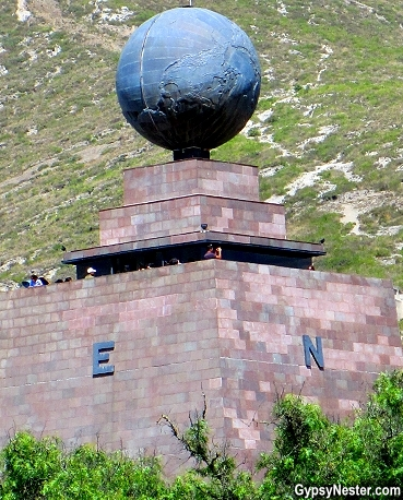 The middle of the world monument stands in the wrong place!