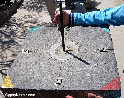 Sundial at the equator at the intianan museum