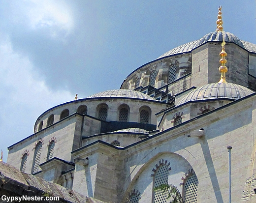 Side view of the Blue Mosque in Istanbul Turkey