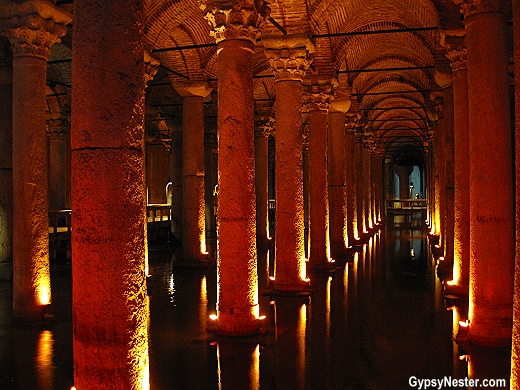 The Basilica Cistern of Istanbul, Turkey