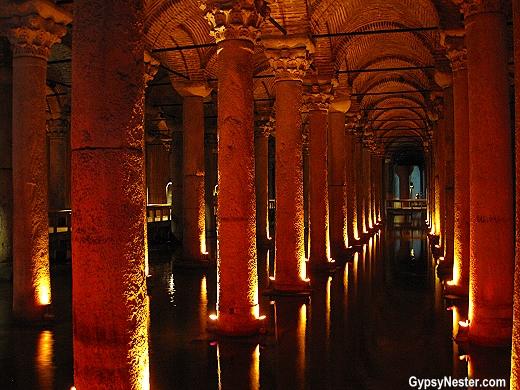 The Basilica Cistern of Istanbul, Turkey