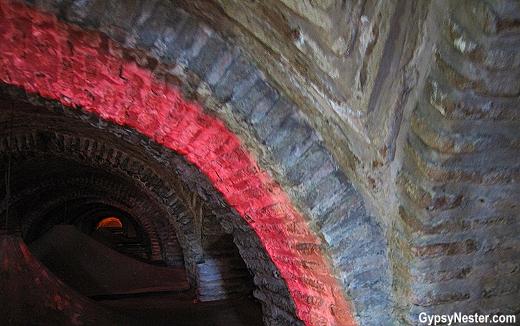 Inside the Basilica Cistern in Istanbul, Turkey