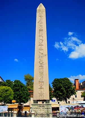 The Egyptian Obelisk in Istanbul, Turkey