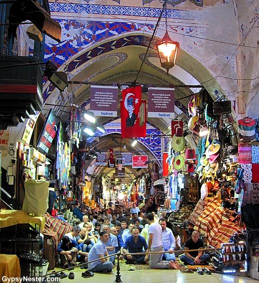 Preparing for prayers in the Grand Bazaar, Istanbul, Turkey